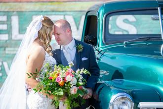 Bride and Groom Vintage Truck 2