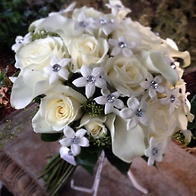 White Roses and Stephanotis rhinestones