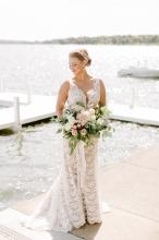 The Bride, The Lake, and her bouquet
