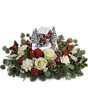 Teleflora\'s Kinkade\'s Christmas Bridge Bouquet