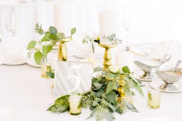 Centerpieces of Foliages and Candles