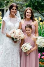 Bride Bridesmaid and Flower girl bouquets