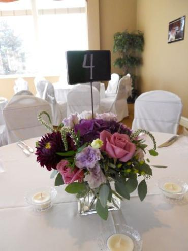 Chalkboard Table Number Centerpieces
