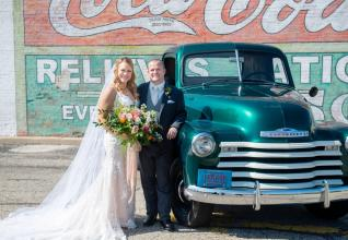 Bride and Groom Vintage Truck