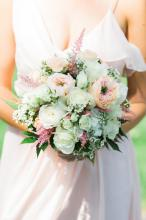 White and Blush wedding