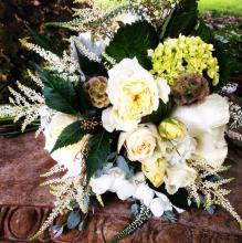 White and Cream Brides Bouquet