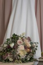 Brides Dress and bouquet