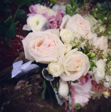 Pale blush bridal bouquet