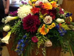 Mixed Summer Garden Casket Spray
