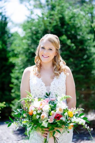 Bride and her bouquet 2