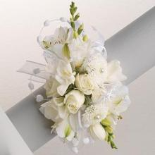White mixed floral corsage