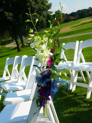 Outdoor Chair decor for aisle