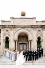 Bridal Party at Yerkes Observatory