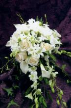 White Cascade Bridal Bouquet