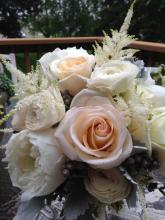 Garden roses with creams and blush