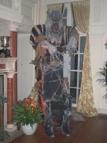 Scary Wolfman Prop created for Halloween Party