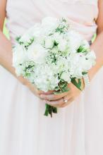 All White Bridesmaids Bouquet