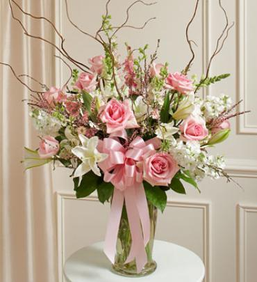 Beautiful Blessings Pink Vase Arrangement