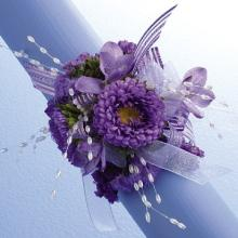Lavender and Pearl Wrist Corsage