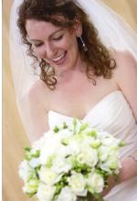 Classic White brides bouquet with green accents