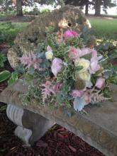 Natural style bouquet with pinks
