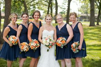 Navy and Orange wedding