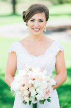 Blush and White Bridal Bouquet 1