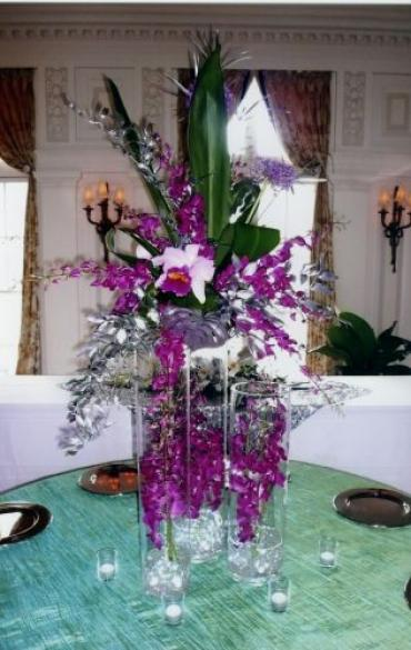 Purple Orchid Centerpiece