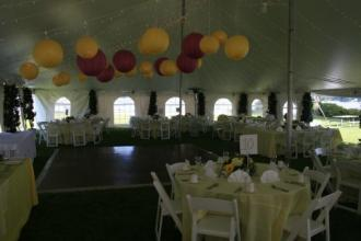 The Miller Tent at Delavan yacht club