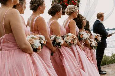Bridesmaids in the Ceremony