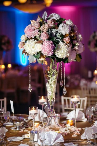 Tall Centerpiece in Ballroom