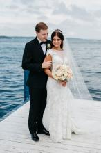 Bride and Groom on Pier
