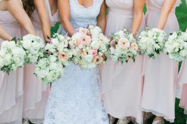 Naye Wedding Party - Blush and White