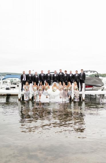 Bridal Party on the pier