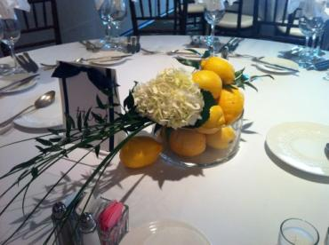 Lemon Bowl Centerpieces