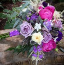 Purples, lavenders and peonys